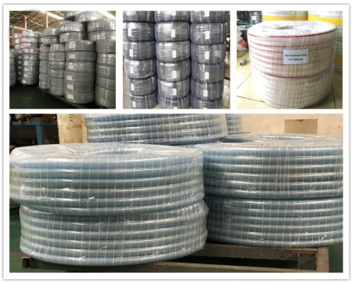 clear pvc braided hose package