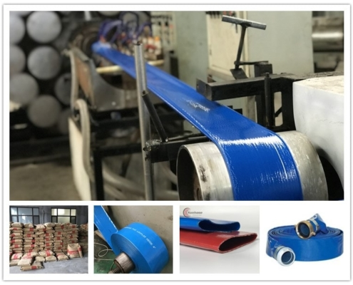Production of layflat hose