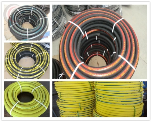 Package of rubber discharge hose