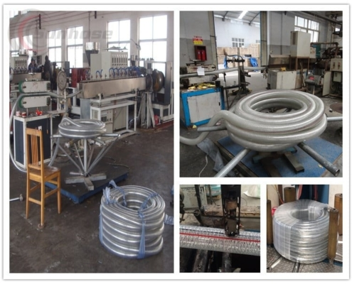 production of wire reinforced pvc hose